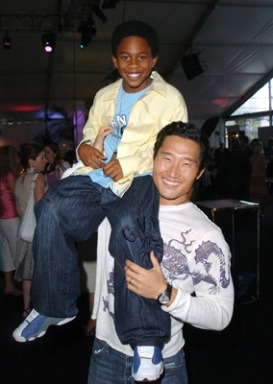 """Malcolm David Kelley and Daniel Dae Kim of """"Lost"""" The CTV New Season Preview - June 6, 2005 Metro Hall Square Toronto, Ontario Canada June 6, 2005 Photo by George Pimentel/WireImage.com To license this image (5175112), contact WireImage: +1 212-686-8900 (tel) +1 212-686-8901 (fax) info@wireimage.com (e-mail) www.wireimage.com (web site)"""